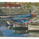Italy Boats at Harbor Vintage Chrome Postcard 4X6