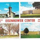 Kansas Abilene Eisenhower Center Vintage Multiview Postcard