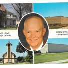 KS Abilene Eisenhower Center Multiview Portrait Inset Vtg Postcard
