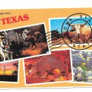 Greetings from Texas Lone Star State Vintage Postcard 4X6 Multiview