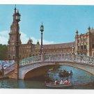 Spain Seville Plaza de Espana Bridge Vintage Sevilla Postcard 4x6