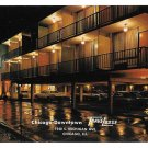 IL Chicago TraveLodge Motel Downtown Night Vntg Postcard Advert