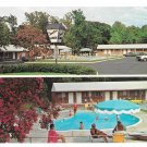 VA Williamsburg Greenbrier Lodge Motel Swimming Pool Vintage Postcard