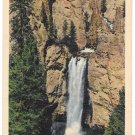 WY Yellowstone Park Tower Fall & Towers Vintage Haynes Linen Postcard
