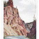 WY Yellowstone Park Red Pinnacle Grand Canyon Vintage Postcard