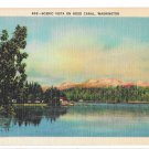 WA Hood Canal Scenic Vista C P Johnston Linen Postcard Washington