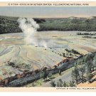 WY Yellowstone Park Excelsior Geyser Crater Vintage Haynes Postcard