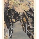 Lost River Caverns Bridge Hellertown PA Vintage Linen Postcard