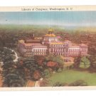 Washington DC Library of Congress Vintage Linen Postcard