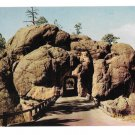 SD Black Hills Tunnel on Iron Mt Road Vintage Postcard South Dakota
