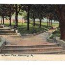 Harrisburg PA Capitol Park Walk Vintage 1911 Postcard