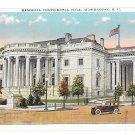 Washington DC Memorial Continental Hall B S Reynolds Vintage Postcard