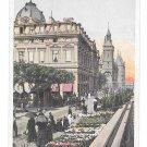 France Paris La Conciergerie Marche aux Fleurs Flower Market Vtg Postcard