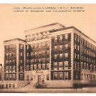 York PA YMCA Building Young Mens Christian Assoc Sepia Artvue Postcard