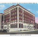 York PA YMCA Building Vintage 1937 Postcard Tichnor