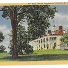 VA Mount Vernon East View Mansion Vntg Linen Postcard