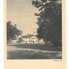 VA Mount Vernon George Washington Mansion West Front Vintage Postcard