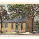 VA Fredericksburg Hugh Mercer Apothecary Vintage Postcard