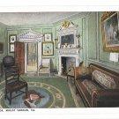VA Mount Vernon West Parlor George Washingtons Home BS Reynolds Postcard