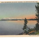 WY Yellowstone Lake & Mt Sheridan Vtg Haynes National Park Postcard