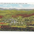 MA Mohawk Trail View of North Adams Vintage Linen Postcard