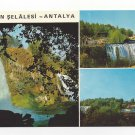 Turkey Antalya Duden Waterfalls Multiview Postcard 4X6