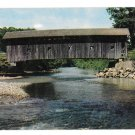 Arlington Vermont Covered Bridge Vintage Postcard VT