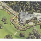 NY Tarrytown Tappan Hill Restaurant Aerial View Vintage Postcard