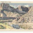 Texas El Capitan Signal & Guadalope Peaks Vintage 1950 Linen Postcard