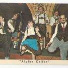 NY Mcalpin Hotel Alpine Cellar Restaurant Dancers Vntg New York City Postcard