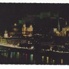 Austria Salzburg Festival City Night Cathedral Postcard 4X6 Festspielstadt