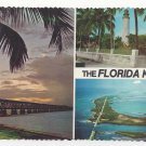 Florida Keys Multiview Bahia Honda Overseas Highway Bridge Vintage postcard 4X6