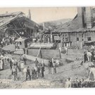York PA 1908 Rolling Mill Disaster Wrecking Crew at Work Vtg Albertype Postcard