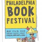 Modern Advertising Postcard Philadelphia Book Festival 2008 Central Library
