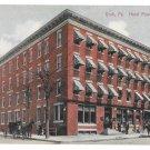 York PA Hotel Penn Horse Carriage Vintage 1912 Leighton Postcard
