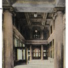 York PA US Post Office Interior Lobby Looking toward Postmasters Office Vtg Postcard