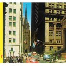 NY Historic Wall Street Federal Hall Memorial Museum Stock Exchange Vintage Postcard