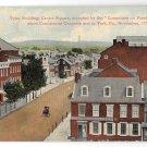 York PA Tyler Building Centre Square Vntg 1912 Gallatin Postcard