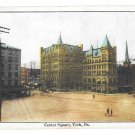 York PA Center Square Vntg J G McCrorey Postcard