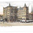 York PA View of Center Centre Square Vintage UDB Postcard