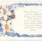 Lilies Cross Vintage Easter Postcard Washington DC Military Camps Slogan Cancel