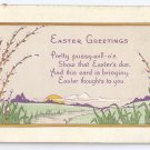 Vintage Easter Postcard  A/S Evelyn Von Hartmann 1920 Poem Bergman