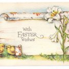 Vintage Easter Postcard Chicks Lilies Bergman Arts & Crafts A/S M Dulk