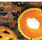 Modern Advertising Postcard  Happy Thanksgiving Pies Fairway Elevator Co