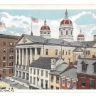 York PA Court House Cafaso Anti Pain Advert on roof Vintage 1921 Postcard