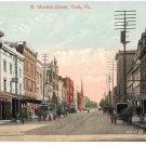 York PA E Market St Horse Carts Smith's Druggists Lehmayer Bro Vintage Postcard