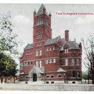 York PA Collegiate Institute Vintage Postcard 1913 College