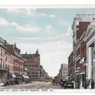 York PA East Market Street Near Center Square Vintage Shambaugh Postcard