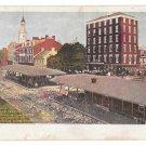 PA Old Market Sheds Centre Square Destroyed 1887 Vntg PMC Postcard