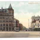 York PA Market Street West Rupp Schmidt Building Trolley Vintage Postcard